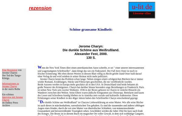 Vorschau von www.u-lit.de, Schöne grausame Kindheit: Charyns dunkle Schöne