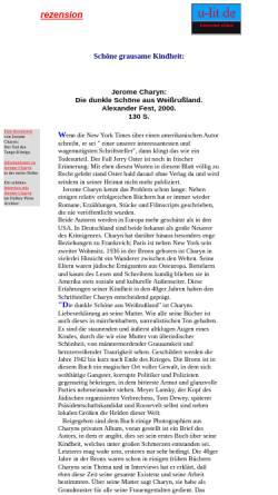 Vorschau der mobilen Webseite www.u-lit.de, Schöne grausame Kindheit: Charyns dunkle Schöne