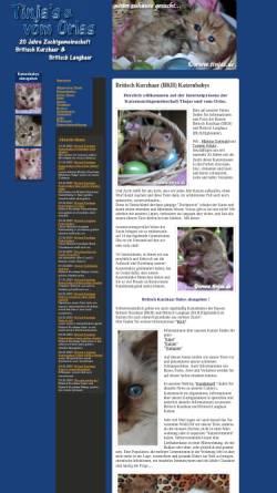 Vorschau der mobilen Webseite www.tinjas.de, Tinja's und vom Orlas