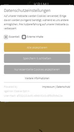 Vorschau der mobilen Webseite www.krimi-couch.de, Brigitte Aubert: Nachtlokal