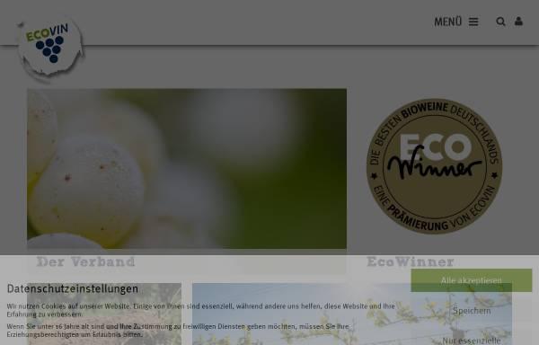 Vorschau von www.ecovin.de, Bundesverband Ökologischer Weinbau - Ecovin