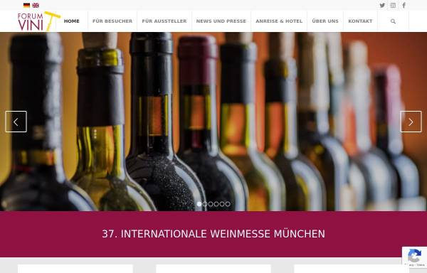 Vorschau von www.forum-vini.de, Internationale Weinmesse