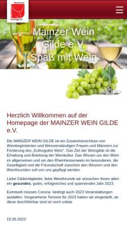 Vorschau der mobilen Webseite www.mainzer-wein-gilde.de, Mainzer Wein Gilde