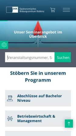 Vorschau der mobilen Webseite www.weinschule.de, Webkatalog für Weinseminare, Weinproben und Kochkurse