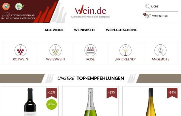Vorschau von www.wein.de, Wein.de