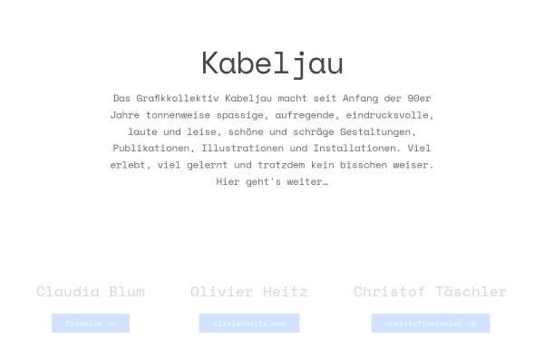Vorschau von www.kabeljau.ch, Kabeljau Design