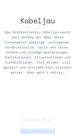 Vorschau der mobilen Webseite www.kabeljau.ch, Kabeljau Design