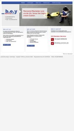 Vorschau der mobilen Webseite www.bey-services.de, b.e.y Services GmbH