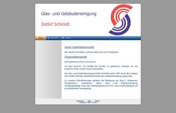 Vorschau von www.gebaeudereinigung-d-schmidt.de, Glas- und Gebäudereinigung Detlef Schmidt