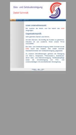 Vorschau der mobilen Webseite www.gebaeudereinigung-d-schmidt.de, Glas- und Gebäudereinigung Detlef Schmidt