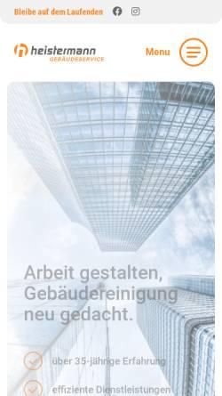 Vorschau der mobilen Webseite www.heistermann.de, HSG Heistermann-Gebäude-Service GmbH