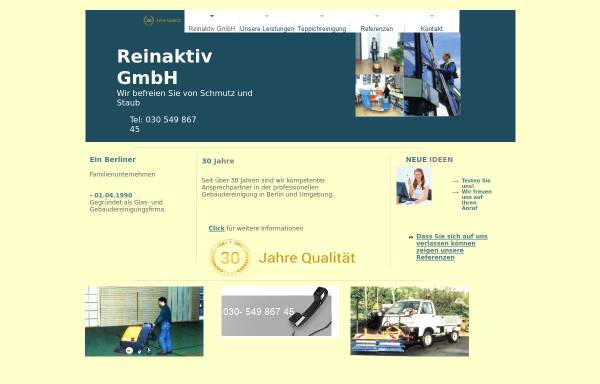 Vorschau von www.reinaktiv.de, Reinaktiv GmbH