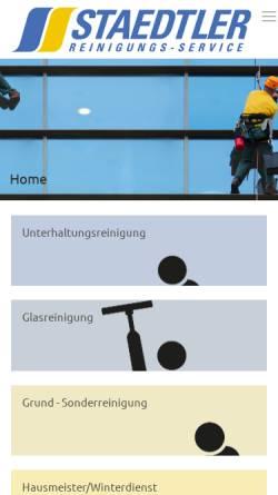 Vorschau der mobilen Webseite www.staedtler-berlin.de, Staedtler Reinigungsservice