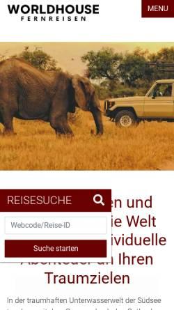 Vorschau der mobilen Webseite www.duedderreisen.de, Dr. Düdder Reisen