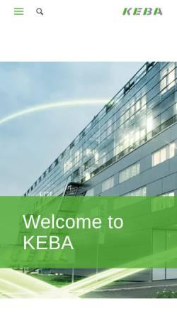 Vorschau der mobilen Webseite www.keba.com, KEBA AG