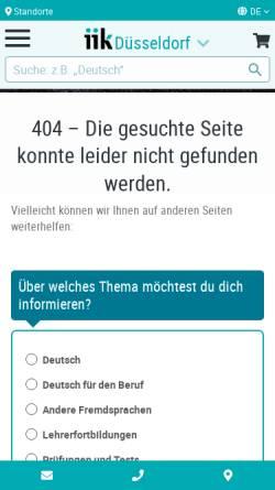 Vorschau der mobilen Webseite www.stufen.de, Stufen International (Klett)