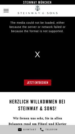 Vorschau der mobilen Webseite www.steinway-muenchen.de, Steinway Haus Heinersdorff