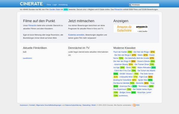 Vorschau von www.cinerate.de, Cinerate.de