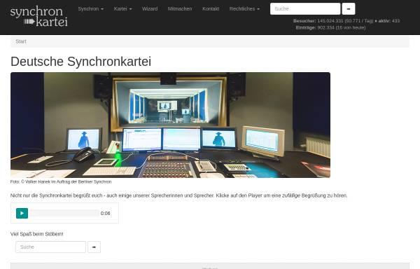 Vorschau von www.synchronkartei.de, Deutsche Synchronkartei