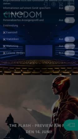 Vorschau der mobilen Webseite www.film.de, Film.de
