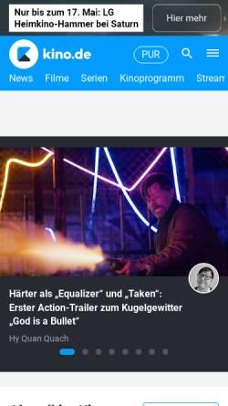 Vorschau der mobilen Webseite www.moviemaze.de, Moviemaze.de