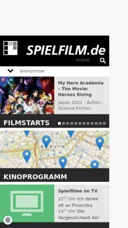 Vorschau der mobilen Webseite www.spielfilm.de, Spielfilm.de