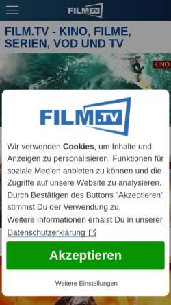 Vorschau der mobilen Webseite www.film.tv, Trailerseite