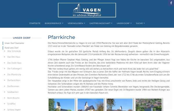 Vorschau von www.vagen.de, Pfarrei Mariä Himmelfahrt Feldkirchen