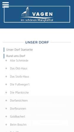 Vorschau der mobilen Webseite www.vagen.de, Pfarrei Mariä Himmelfahrt Feldkirchen