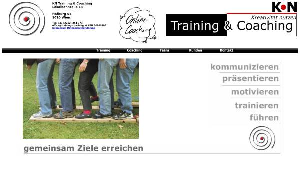 Vorschau von www.training-coaching.at, KN Training&Coaching - Karin Norek