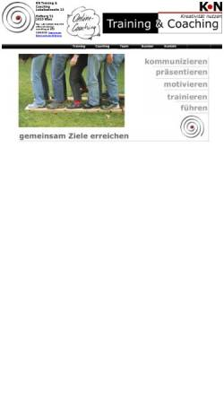 Vorschau der mobilen Webseite www.training-coaching.at, KN Training&Coaching - Karin Norek