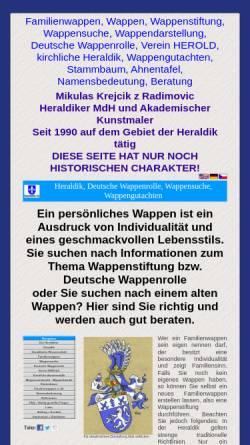 Vorschau der mobilen Webseite www.heraldik-1a.com, Heraldik-1a