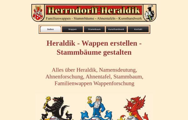 Vorschau von www.herrndorff-heraldik.de, Horst Herrndorff e.K., Inhaber Elmar Siemssen