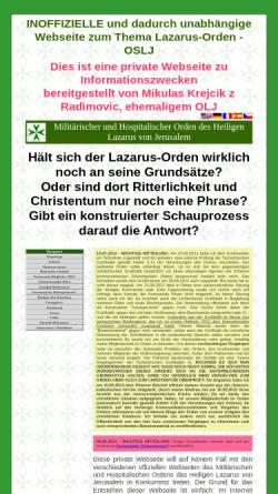Vorschau der mobilen Webseite www.atavis-et-armis.info, Nicht offizielle Webseite über den Lazarus-Orden mit Informationen zur Ordensheraldik
