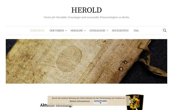 Vorschau von herold-verein.de, Verein Herold zu Berlin