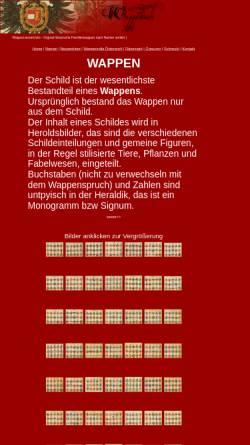 Vorschau der mobilen Webseite www.wappenbuch.de, Wappenbuch