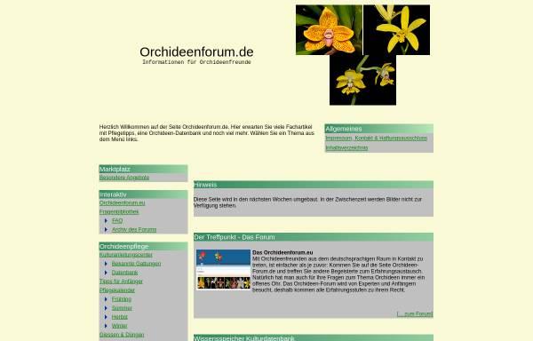 Vorschau von www.orchideenforum.de, Joes Orchideen-Forum