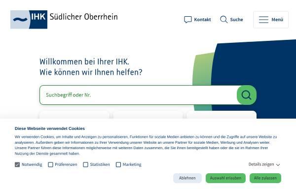Vorschau von www.suedlicher-oberrhein.ihk.de, Industrie- und Handelskammer (IHK) Südlicher Oberrhein