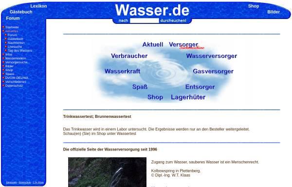 Vorschau von www.wasser.de, Wasser [wasser.de]
