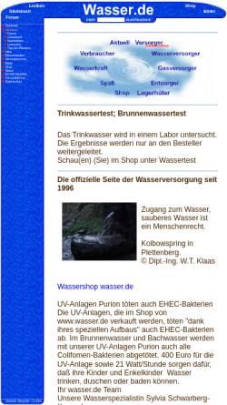 Vorschau der mobilen Webseite www.wasser.de, Wasser [wasser.de]