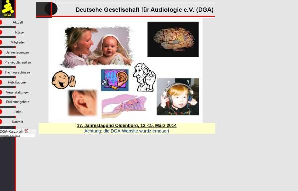 Vorschau von www.uzh.ch, Deutsche Gesellschaft für Audiologie e.V. (DGA)
