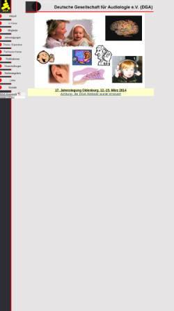 Vorschau der mobilen Webseite www.uzh.ch, Deutsche Gesellschaft für Audiologie e.V. (DGA)