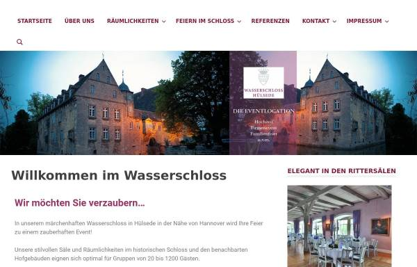 Vorschau von www.wasserschloss-huelsede.de, Wasserschloss Hülsede