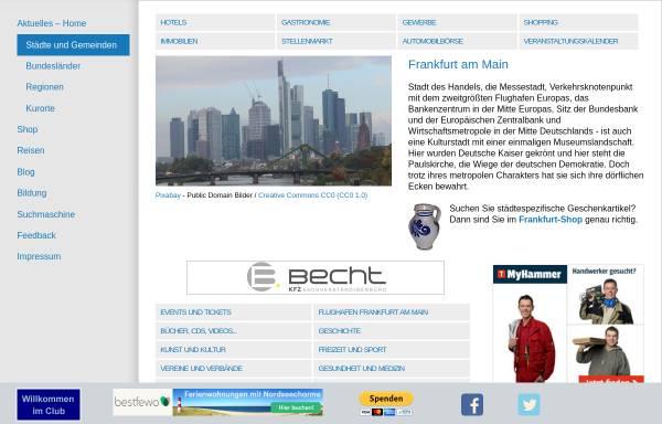 Vorschau von www.deutsche-staedte.de, Deutsche Städte: Frankfurt
