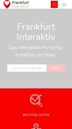 Vorschau der mobilen Webseite frankfurt-interaktiv.de, Frankfurt inter@ktiv