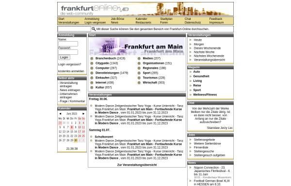Vorschau von www.frankfurt-online.de, Frankfurt-Online