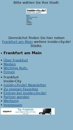 Vorschau der mobilen Webseite www.inside-city.de, Inside-City