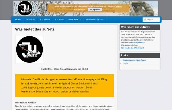 Vorschau von ffm.junetz.de, Jugendnetz Frankfurt