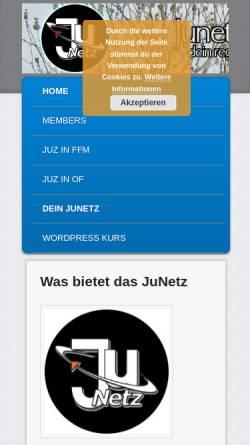 Vorschau der mobilen Webseite ffm.junetz.de, Jugendnetz Frankfurt