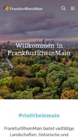 Vorschau der mobilen Webseite www.frankfurt-rhein-main.de, Region Frankfurt Rhein-Main